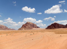 Wadi Rum Desert --southern Jordan 60 km to the east of Aqaba Stock Image