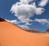Wadi Rum Desert sydlig Jordanien 60 km till öst av Aqaba Royaltyfri Foto