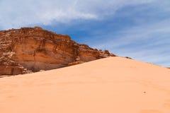 Wadi Rum Desert --sydlig Jordanien 60 km till öst av Aqaba Royaltyfri Bild