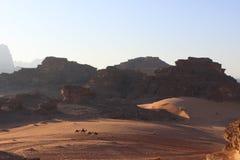 Wadi Rum hermoso, Jordania imagen de archivo libre de regalías