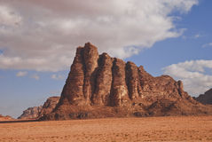 Wadi Rum hill Royalty Free Stock Photos