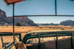 Wadi Rum Jeep Tour Images stock