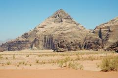 Wadi Rum, Jordan. Pyramid mountain, Wadi Rum, Jordan Stock Image