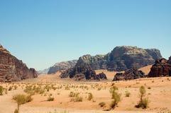 Wadi Rum, Jordan. Desert landscape in Wadi Rum, Jordan Royalty Free Stock Photography