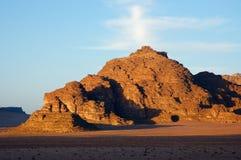 Wadi Rum, Jordan. Evening in Wadi Rum Desert, Jordan Stock Photo