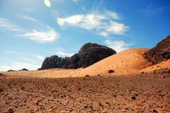 Wadi Rum, Jordan. The Grand Dune in Wadi Rum Desert, Jordan Stock Images