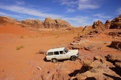 Wadi Rum, Jordan. Safari in Wadi Rum desert Stock Photo