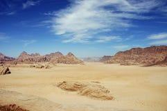 Wadi Rum, Jordan. View from top of Burdah mountain, Wadi Rum Desert, Jordan Stock Images