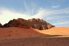 Wadi Rum, Jordan. Scenic view during safari in Wadi Rum desert Royalty Free Stock Photos