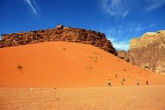 Wadi Rum, Jordan. The huge red dune in Wadi Rum desert Stock Photos