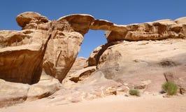 Wadi Rum, Jordan. Natural Arch in Wadi Rum Stock Images