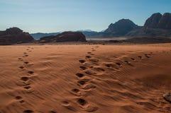 Wadi rum in Jordan Royalty Free Stock Photography