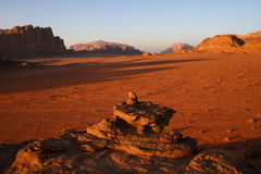 Wadi rum jordan Stock Photo