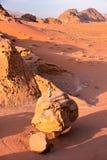 WADI RUM, JORDAN: The colorful Wadi Rum desert Royalty Free Stock Photography