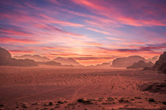 Wadi Rum in Jordan Stock Photography