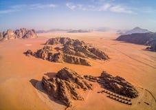 Wadi Rum Jordan, szenische Standorte in Jordanien lizenzfreies stockbild