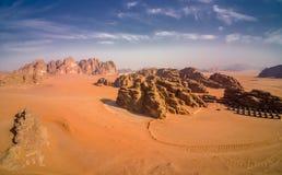 Wadi Rum Jordan, szenische Standorte in Jordanien stockfotografie