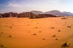 Wadi Rum Jordan, szenische Standorte in Jordanien stockfotos