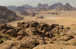 Wadi Rum, Jordanië Stock Afbeeldingen