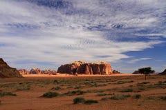 Wadi Rum/Jordanien Arkivbild