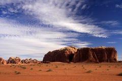 Wadi Rum/Jordanien Arkivfoton