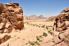 Wadi Rum - la Giordania Immagini Stock