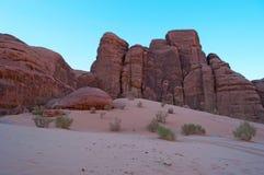 Wadi Rum, la vallée de la lune, Aqaba, Jordanie, Moyen-Orient Photo libre de droits