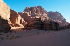 Wadi Rum, la vallée de la lune, Aqaba, Jordanie, Moyen-Orient Image libre de droits