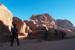 Wadi Rum, la vallée de la lune, Aqaba, Jordanie, Moyen-Orient Photographie stock libre de droits