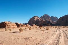 Wadi Rum, la valle della luna, Aqaba, Giordania, Medio Oriente Immagine Stock Libera da Diritti