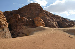 Wadi Rum landscape Stock Photos