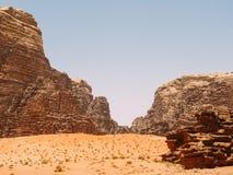 Wadi Rum Landscape Fotografie Stock Libere da Diritti