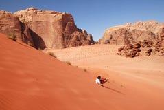 Wadi Rum Landscape Jordan Royalty Free Stock Photos