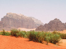 Wadi Rum Landscape Royalty Free Stock Images