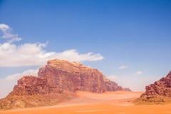 Wadi Rum maestoso, aka valle della luna fotografia stock