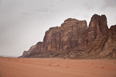 Wadi Rum mountain Royalty Free Stock Photos