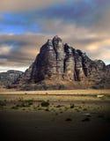 Wadi Rum Mountain. Desert of Wadi Rum, Jordan stock photography