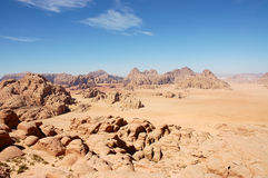Wadi Rum mountain landscape, Jordan Royalty Free Stock Images