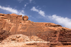 A Wadi Rum mountain Royalty Free Stock Photography