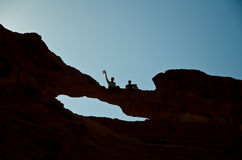 Wadi rum Natural Bridge Royalty Free Stock Images