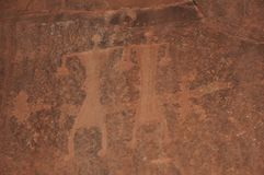 Wadi Rum People Petroglyph Royalty Free Stock Photography