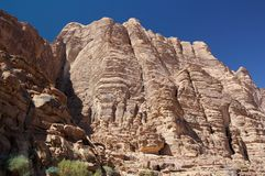 Wadi Rum rock mountains Royalty Free Stock Photos