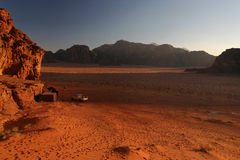 Wadi Rum sunrise Stock Photos