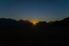 Wadi Rum Sunrise Stock Image