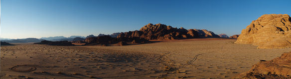 Wadi rum sunset Royalty Free Stock Photography