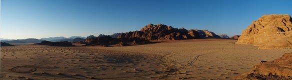 Wadi rum sunset. Sunset view in wadi rum, Jordan Royalty Free Stock Photography
