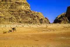 Wadi Rum, Valley of the Moon royalty free stock photo