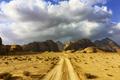 Wadi Rum, Valley of the Moon royalty free stock images