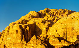 Wadi Rum-woestijnlandschap - Jordanië Royalty-vrije Stock Foto