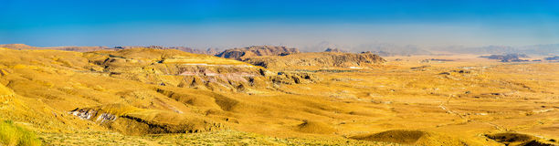 Wadi Rum-woestijnlandschap - Jordanië Stock Foto